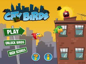 City Birds Menu Screen