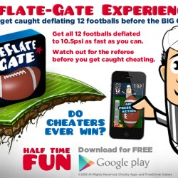 Deflate Gate Game for Apple App Store and Google Play